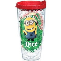 Tervis 1206261ミニオンズNaughty Nice Tumbler with Lid、レッド