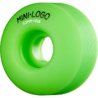 Miniロゴc-cut 53 mm 101 aグリーンSkateboard Wheels ( Set of 4 )