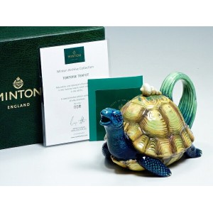 MINTON Archive Collection ミントン 50客限定品 No.8 1870年代 復刻版 ティーポット カメ 亀【中古】