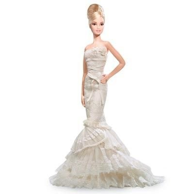 バービー Vera Wang 'Romanticist' Bride Barbie Doll (Platinum Label) ドール 人形 フィギュア