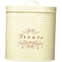 One for Pets Treats Canister Set, Cream by One for Pets