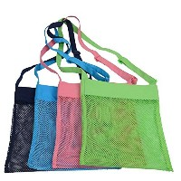 honboomメッシュビーチバッグ水& Sand Away ( Set of 4) Perfect for Palmビーチキャンプ旅行シェルコレクションBathing Suit &...