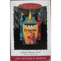ホールマークBright Shining城1993 Crayola Crayon Keepsake Ornament