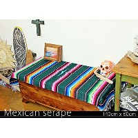RUG&PIECE Mexican Serape made in mexcico ネイティブ メキシカン サラペ メキシコ製(rug-5895)