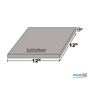 Isolate It!: Sorbothane Vibration Damping Sheet Stock 40 Duro (1/8x 12 x 12in) by Isolate It!