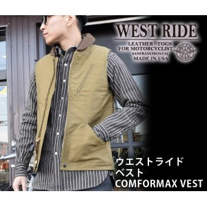 【WESTRIDE/ウエストライド】レザー防寒ベスト/CONFORMAX VEST ★REALDEAL