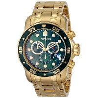 インヴィクタ Invicta Men's 0075 Pro Diver Chronograph 18k Gold-Plated Watch [並行輸入品]