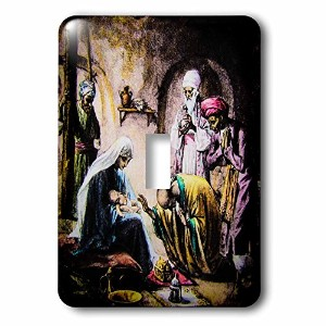 3drose LSP _ 246444_ 1Vintage Christianity Bible Story The Wise Men and Baby Jesus Single切り替えスイッチ