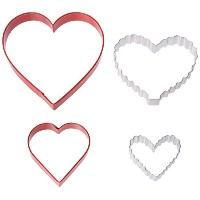 Wilton 2308-0926 From The Heart Nesting Cookie Cutters, Set of 4 by Wilton