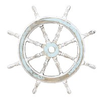Deco 79 Wood Ship Wheel Nautical Maritime装飾、24インチby Deco 79