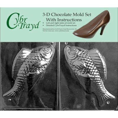 Cybrtrayd N031AB Chocolate Candy Mould, Includes 3D Chocolate Moulds Instructions and 2-Mould Kit,...