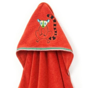 Breganwood Organics Baby & Toddler Hooded Towel, Happy Lemur Rainforest Collection by Breganwood...