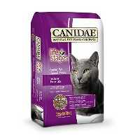 CANIDAE Life Stages Indoor Formula Cat Food Higher Fiber Levels Low Fat 8lbs