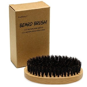 LotFancy Beard and Hair Brush for Men - Made of 100% Natural Boar Bristle by LotFancy