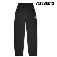 Vetements ヴェトモン 2017-2018年秋冬新作 Wide-Leg Embroidered Cotton-Blend Jersey Sweatpants メンズ ボトムス スウェット