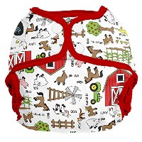 Imagine Baby Products Snap Diaper Cover, Barnyard Jam by Imagine Baby Products