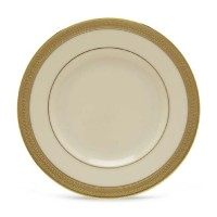 Lenox LowellゴールドBandedアイボリー中国5-piece Place Setting Butter Plate ゴールド 110601020