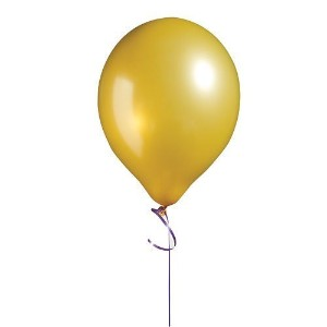 Gold Metallic Latex Balloons 11 Inch Package of 100 by Shindigz