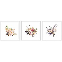 Marmont Hill mh-amsets-abc-351-wfp-120 Flower Bunch Triptych 120 x 40フラワーBunch Triptych 120 x 40...