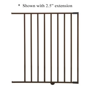 Dreambaby Brighton Gate Extension - Brown - 22 by Dreambaby