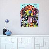My Wonderful Walls Dog Pop Art Wall Sticker Decal Dog is Love by Dean Russo (M) by MyWonderfulWalls