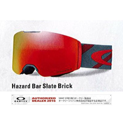 17/18 OAKLEY FALLINE Hazard Bar Brick/Prizm Torch Iridium Asia Fit 【70860800】