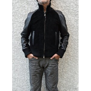 【Y'2 LEATHER/ワイツーレザー】レザージャケット/TB-127:STEER SUEDE × STEER OIL RIB JKT★REAL DEAL
