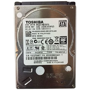 Toshiba MQ01ABD075 750GB SATA 3GB/s 5400RPM 2.5 Inch 9.5mm Internal Hard Drive