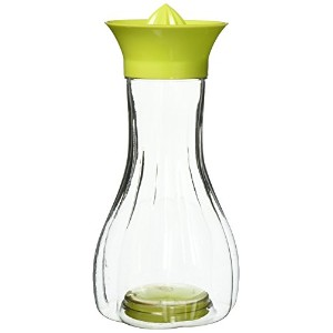 basicwise手動Citrus Juicer with Bottle andストレージ蓋、グリーン