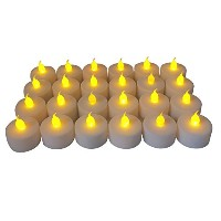 battery-powered Flameless LED Tealight Candles ,パックof 24