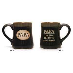 "マグギフトfor Dad XL 18 ozインプリント、"" Papa , the Man – The Myth – The Legend "" 18"