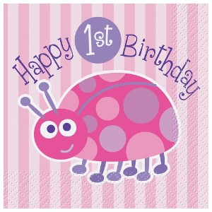 1st Birthday Ladybug Tablewareキット One Size ピンク 40391