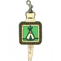 OJAGA DESIGN (オジャガデザイン) GOHEMP TIPI KEY CAP Color:GREEN Size:H9xW4.5xD1.5cm