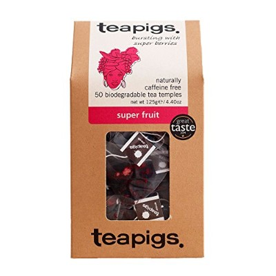 Teapigs Super Fruit Tea 125 g (Pack of 1, Total 50 Tea Bags)