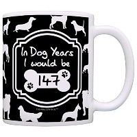 21st Birthday Gifts for All In Dog Years I Would Be 147 Dog Gag Gift Coffee Mug Tea Cup Black by...