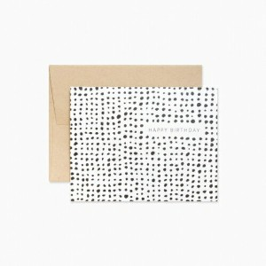 EVERMORE PAPER CO. | ABSTRACT DOTS BIRTHDAY CARD | グリーティングカード