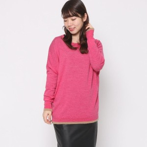 【SALE 80%OFF】ニューヨーク インダストリー  New York Industrie Outlet ドルマンルニット (ピンク)