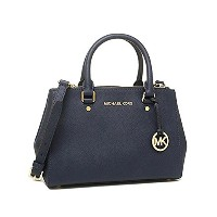(マイケルコース) MICHAEL KORS バッグ 30F4GSUS5L 406 SUTTON SM SATCHEL SAFFIANO LEATHER 18K ショルダーバッグ NAVY ...