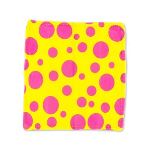 Baby Paper - Crinkly Baby Toy - Yellow w/ Pink Dots by Baby Paper