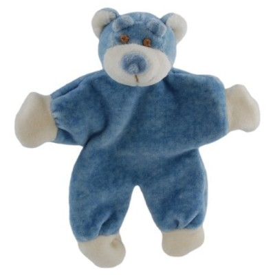 Simply Fido Wally 5-Inch Stuffless Blue Bear with Crinkle Paper Dog Toy [並行輸入品]