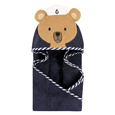 Hudson Baby Animal Hooded Towel - Sailor Bear by Hudson Baby