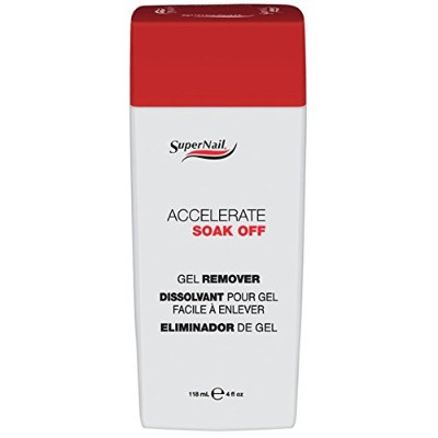 SuperNail Nail Treatments - Accelerate Soak Off Gel Remover - 4oz / 118ml