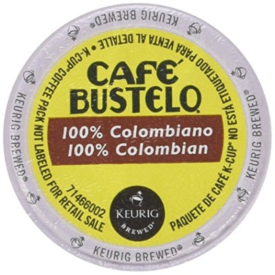 Keurig Cafe Bustelo Coffee 100% Colombian K-Cups Cuban Colombiano by Cafe Bustelo