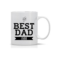 AW Fashions ( TM ) The Best Dad Ever – 面白いギフトMug – 11オンスコーヒーマグ – 、従業員、ボス – Perfect for誕生日、男性、女性、彼...