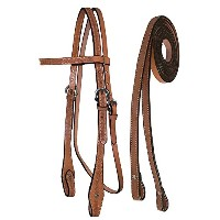 Tahoe Tack Barbwire手工具Headstall with Split Reinsフル馬サイズ