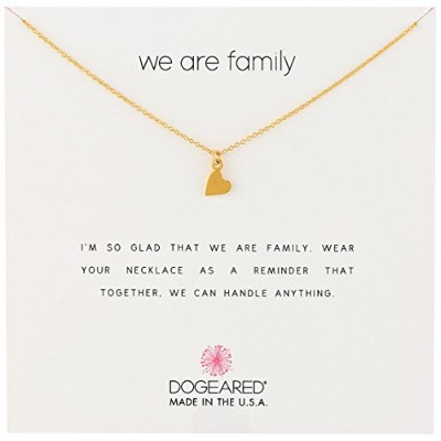 "[ドギャード]Dogeared ""Reminders"" We Are Family Sideways Heart Gold Necklace, 18"" ネックレス ジュエリー[並行輸入品]"