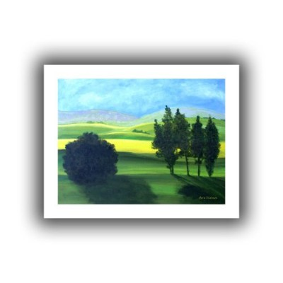 Herb Dickenson ' Piedmont ' Unwrappedフラットキャンバスアートワーク 28x36 0dic132a2432r