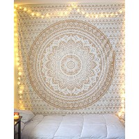 """Golden Ombre Tapestry """" Gold tapestry Ombre Bedding, Mandala Tapestry, Multi Colour Indian Mandala..."""