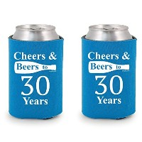 Shop4Ever Cheers & Beers to 30 Years ドリンククーラー  ブルー