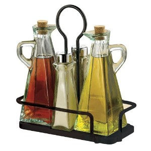テーブルクラフト( 61517nbk ) 5-piece Marbella Oil & Vinegar / Salt & Pepper Set